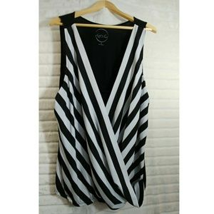 Inc. 💜 Stripe Sexy Plus Size Tank Top